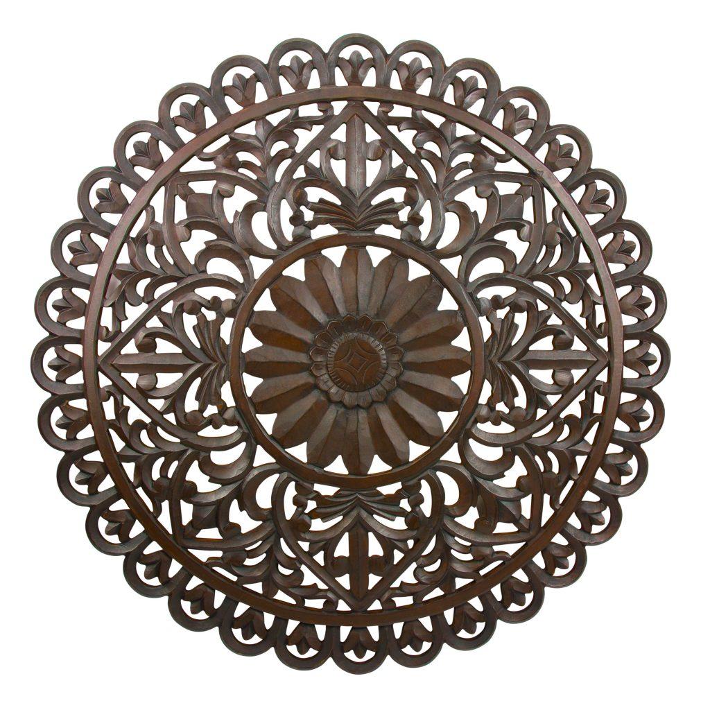 Muurdecoratie Mandala – Wanddecoratie hout gesneden – 90 cm