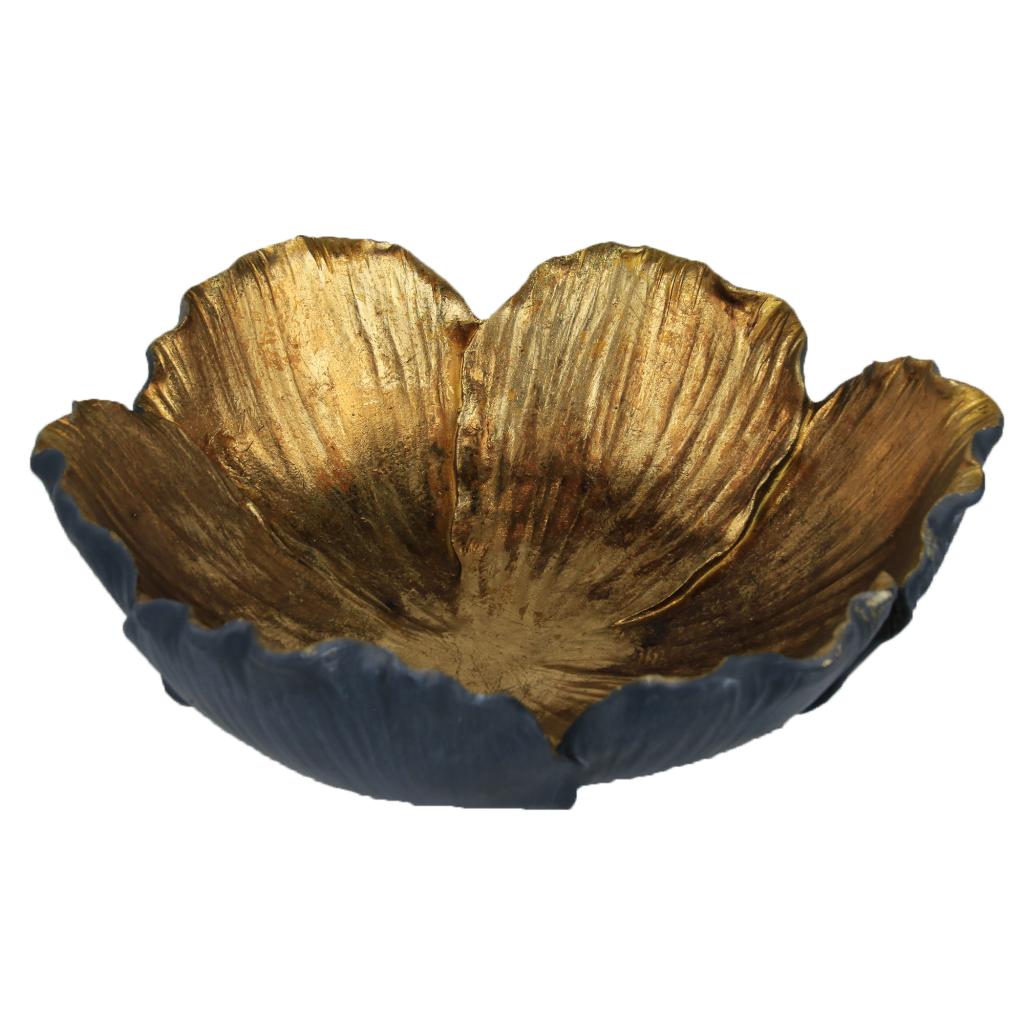 Gouden schaaltje – Bloemvorm – 26 cm