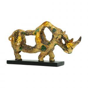 Decoratie neushoorn goud