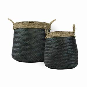 Bamboe mand reti set van 2