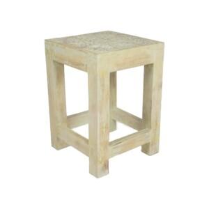 Bijzettafel hout wit Sagre