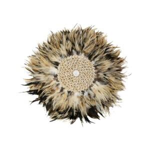 Wanddecoratie veren bruin - Juju 50 cm (2)