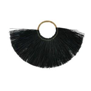 Wandhanger zeegras zwart - halve maan (2)